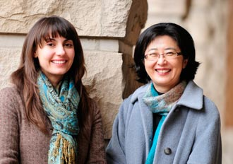 Katy Thakkar and Sohee Park (Mary Donaldson/Vanderbilt University)