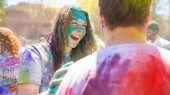 Students welcome spring, celebrate diversity at Holi festival
