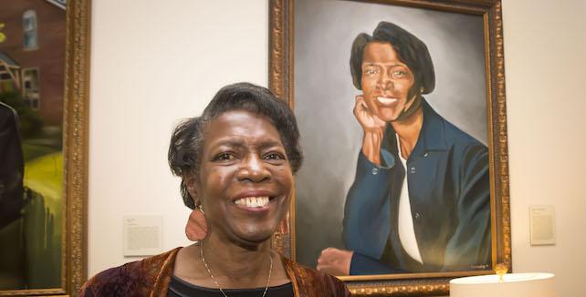 Dorothy Phillips with Trailblazer portrait