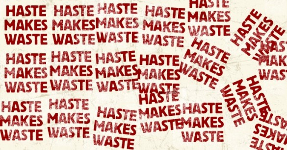 make haste with waste Too much hurry will bury your goals too much haste will make you waste too quick race will cripple your pace be patient israelmore ayivor, leaders' ladder tags.