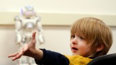 Humanoid robot helps train children with autism