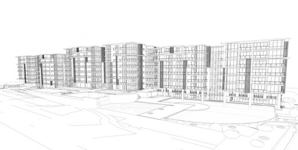 apartment block blueprint
