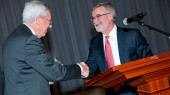 Hans Stoll honored at New Frontiers in Finance Conference