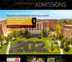 The Vanderbilt Admissions webpage won a Gold award in the University-Related Web Page or Site category.