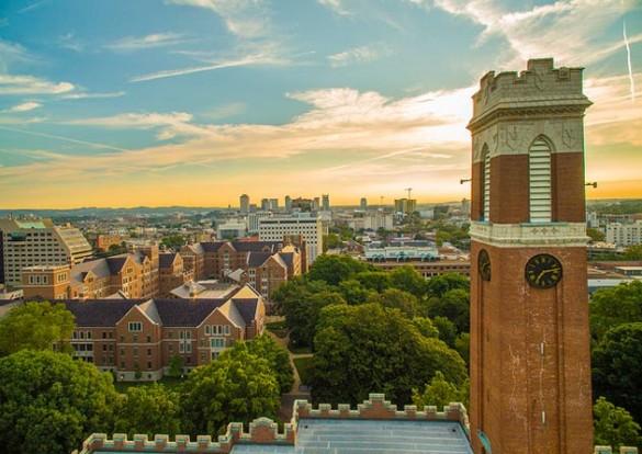 Vanderbilt University Kirkland Tower aerial photograph