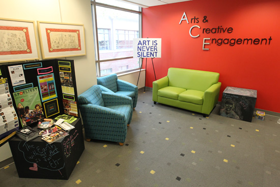 The Arts and Creative Engagement wing at Sarratt Student Center. (Steve Green/Vanderbilt)