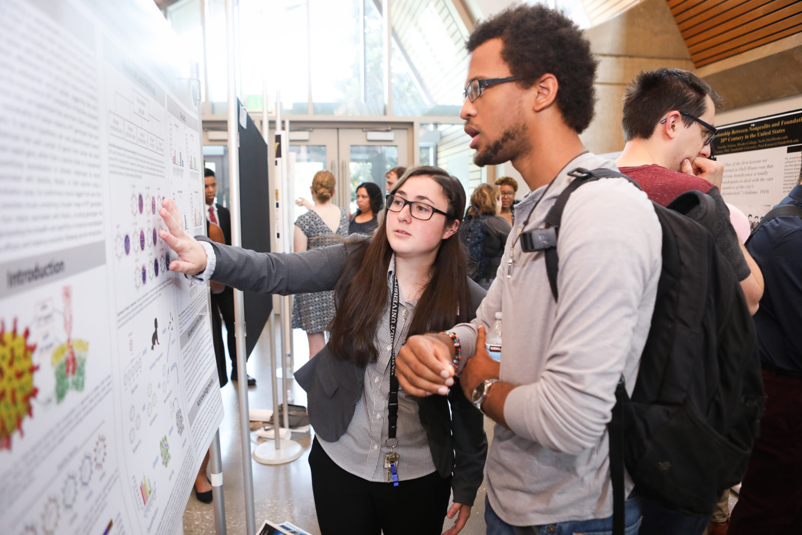 Student presenting at the 17th Annual VSSA Student Research Symposium includes a poster session and oral presentations. Photos by: Susan Urmy