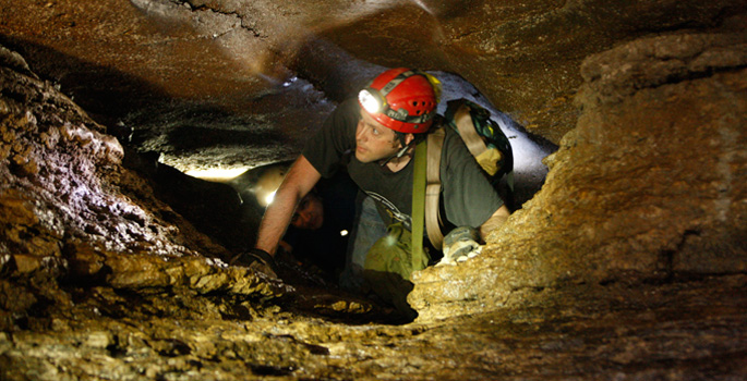 Vanderbilt chemist Brian Bachmann is exploring Tennessee caves in search for new drugs.