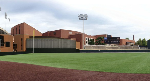 A rendering of Hawkins Field. (Gilbert McLaughlin Casella Architects)