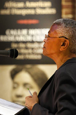 Mary Frances Berry delivered the Callie House Research Center's inaugural lecture. (Steve Green/Vanderbilt)