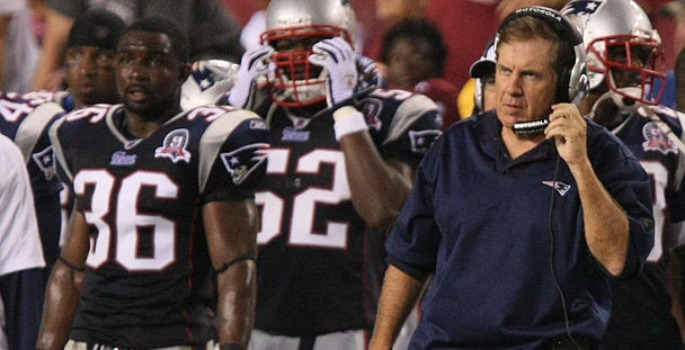 New England Patriots Coach Bill Belichick stood by his risky fourth down call in a game on Nov. 15, 2009, despite critics' beliefs that it caused his team's loss to the Indianapolis Colts. (Keith Allison via Wikimedia Commons)