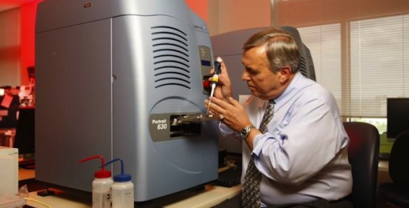 Richard Caprioli and mass spectrometer
