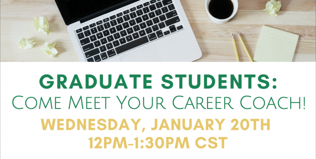 Career Center to host virtual open house for Graduate School students Jan. 20