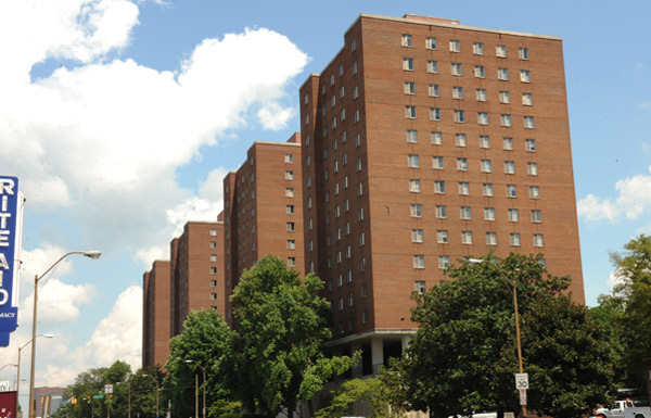 Carmichael Towers on the Vanderbilt University campus. (Vanderbilt University)
