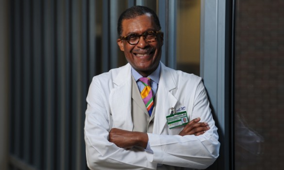 Andre Churchwell, M.D., has been named Chief Diversity Officer for VUMC. (photo by Joe Howell)