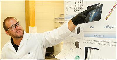 Craig Duvall in lab
