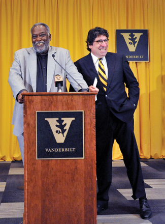 Zeppos appointed David Williams II vice chancellor for athletics and university affairs and athletics director in July 2012. (Joe Howell/Vanderbilt)