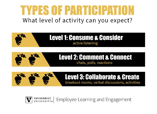 Types of participation: What level of activity can you expect?