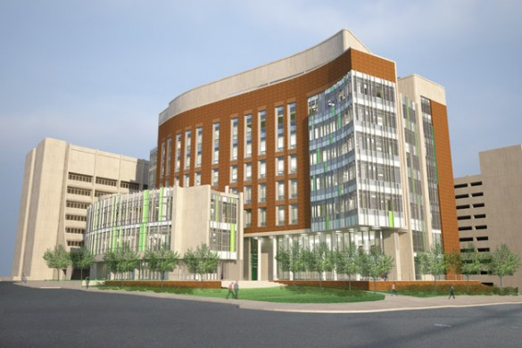 A rendering of the Engineering and Science Building. (William Wilson Associated Architects)