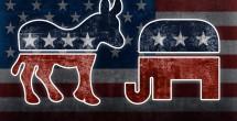 Election donkey elephant