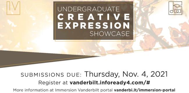 Fall 2021 Undergraduate Creative Expression Showcase