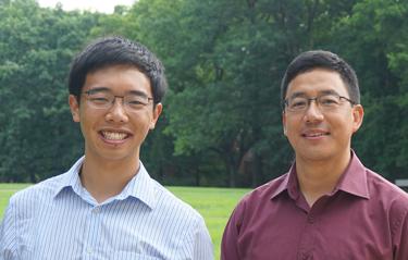 School of Medicine student Roger Fan, left, with his research mentor, Carlos Grijalva, M.D., MPH.