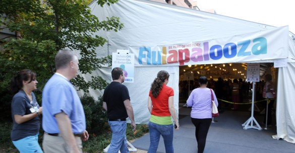 More than 14,500 people attended last year's Flulapalooza mass vaccination event on the Vanderbilt University Medical Center campus. This year's event is slated for Tuesday, Oct. 11. (Vanderbilt University)