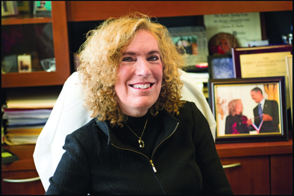 Elaine Fuchs, Ph.D., the Rebecca C. Lancefield Professor and head of the Robin Chemers Neustein Laboratory of Mammalian Cell Biology and Development at Rockefeller University in New York. (Mario Morgado/The Rockefeller University)