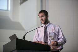 The VICC Graduate Student of the Year award was granted to M.D./Ph.D. candidate Jean-Nicolas Gallant. (photo by Joe Howell)