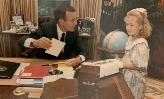 When Larisa DeSantis was 9 years old, she had the opportunity to meet with then-President George H.W. Bush in the Oval Office in her capacity as the national poster child for the Epilepsy Foundation of America.