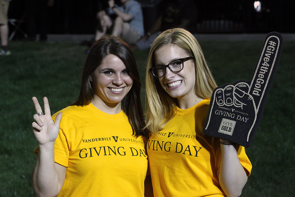 Students celebrating Giving Day