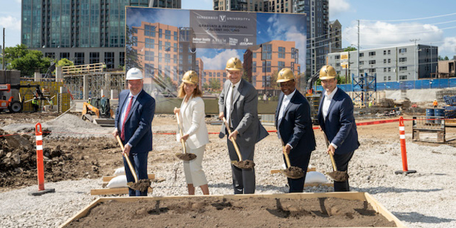 Ground breaking for the Graduate and Professional Student Building