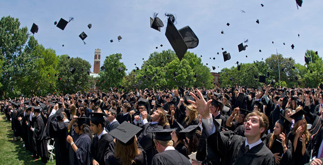 The Class of 2012 reported high levels of satisfaction with their Vanderbilt experience, according to a new survey. (John Russell/Vanderbilt)