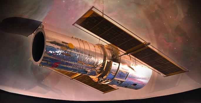 Hubble Space Telescope replica
