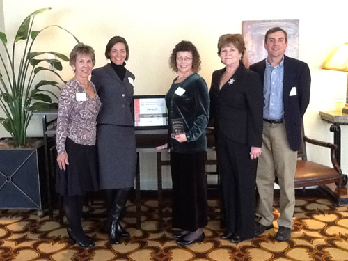 "Health Plus staff receive the ""Nashville Business Journal's"" Healthiest Employer award. (Vanderbilt University)"