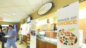 Healthy entrée station set for Courtyard Café