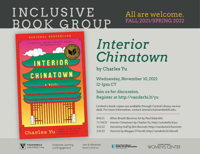 Inclusive Book Group: Interior Chinatown by Charles You