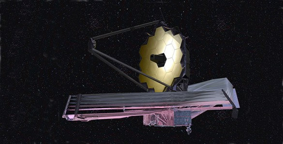 James Webb, the replacement for the Hubble Space Telescope ... |James Webb Telescope Drawing