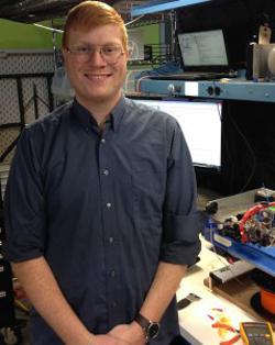 Jack Minardi, a 2012 electrical engineering graduate and co-founder of Voxel8. (Heidi Hall/Vanderbilt)