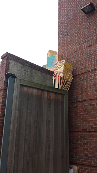 "A portion of John Watson's ""Courtyard Project,"" currently on display at Vanderbilt's E. Bronson Ingram Studio Arts Center."