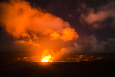 Jones was on hand last year to photograph the lava lake that formed at the summit of the Kilauea volcano in Hawaii. (photo by Ian Jones)