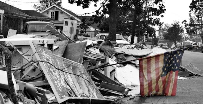 Chalmette, La., after being hit by Hurricane Katrina (Pattie Steib/iStock)