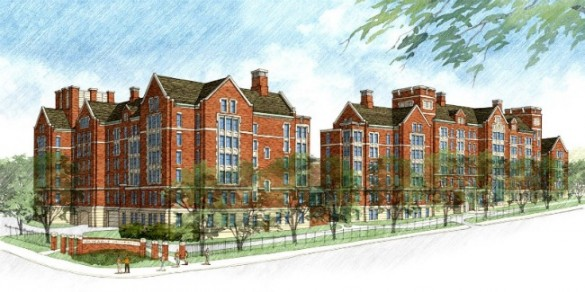 Artist's rendering of the new residential college at Kissam