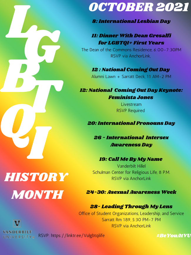 LGBTQI History Month events 2021