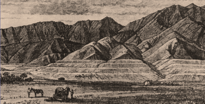 Drawing made in 1879 as part of an early general-geology study
