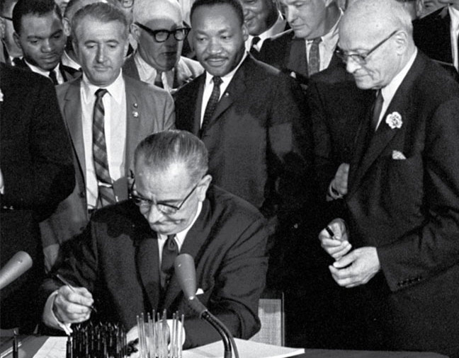 a paper on president johnsons the voting rights act President johnson signs the voting rights act, which made it illegal to impose restrictions to deny african americans their voting rights.