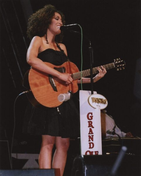 photograph of Rissi Palmer performing for first time at Grand Ole Opry