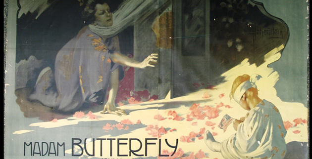 "Adolfo Hohenstein, ""Madam Butterfly,"" c. 1906. (Color lithograph, Francis Robinson Collection, Vanderbilt University Special Collections)"