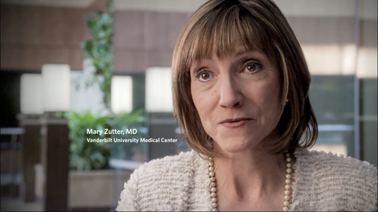 "Mary Zutter, assistant vice chancellor for integrative diagnostics, is featured in new messaging for Vanderbilt University Medical Center's ""Promise of Discovery"" awareness campaign. (Vanderbilt University)"