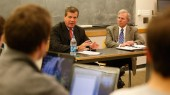 Mayors share insight with public policy studies class